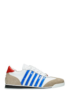Dsquared 2-Sneakers New Runner in pelle bianca