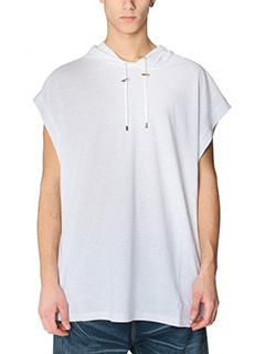 Balmain-Top in cotone bianco