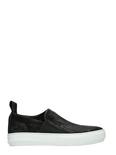 The last Conspiracy-Sneakers Guilherme in pelle e camoscio nero