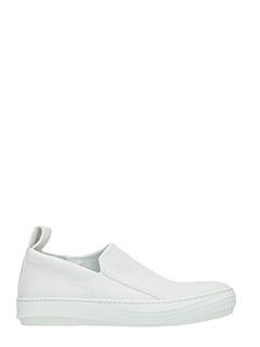 The last Conspiracy-Sneakers Guilherme in pelle e camoscio bianco