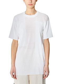 Maison Margiela-Maglia in filo di lino bianco
