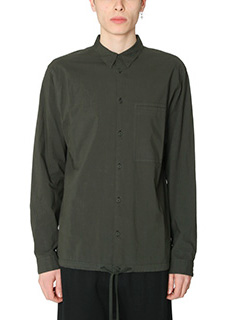 Helmut Lang-Camicia Trooper in cotone verde