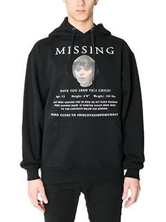 IH NOM UH NIT-Felpa Missing in cotone nero