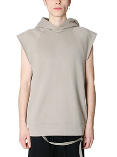 Helmut Lang-Felpa Oversized Cut in cotone taupe