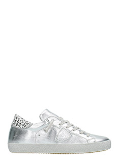 Philippe Model-Sneakers Classic in pelle argento