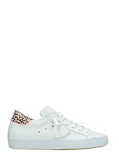 Philippe Model-Sneakers Classic in pelle bianca