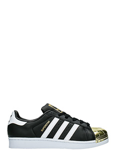 Adidas-Sneakers Superstar Metal Toe in pelle nera bianca