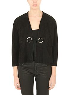 Drome-black suede outerwear