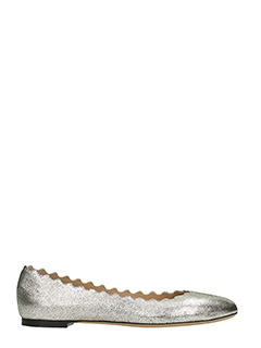 Chlo�-Lauren  grey leather ballet flats