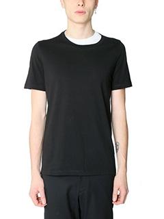 Maison Margiela-T-Shirt in cotone nero bianco-girocollo