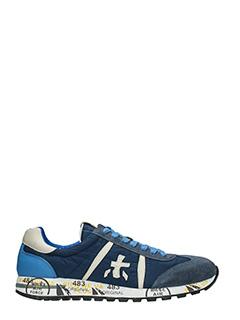 Premiata-Sneakers Lucy  in pelle e camoscio blue