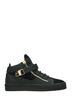 Giuseppe Zanotti-Sneakers Mid in pelle e camoscio nero