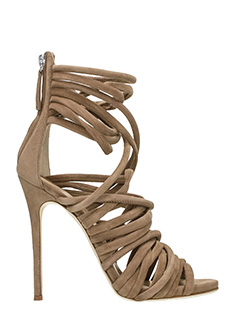 Giuseppe Zanotti-Allien 115 beige suede sandals