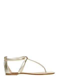 Vicini-Sandali infradito Janis in pelle  oro