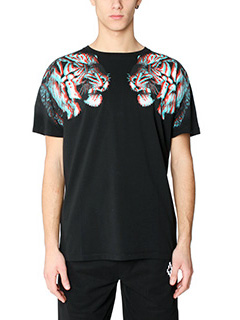 Marcelo Burlon-T-Shirt Tajo in cotone nero