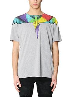 Marcelo Burlon-T-Shirt Nicolas in cotone grigio