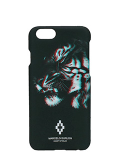 Marcelo Burlon-Cover  Tajo IPhone 6  in plastica nera