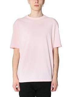 Raf Simons-T-Shirt Raf Simons for Robert Mapplethorpe   in cotone rosa
