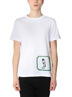 Raf Simons-T-Shirt Raf Simons for Robert Mapplethorpe   in cotone bianco