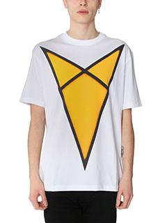 Raf Simons-T-Shirt Raf Simons for Robert Mapplethorpe   in cotone bainco