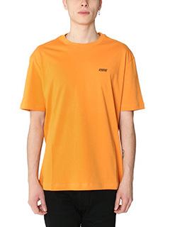 Raf Simons-T-shirt Hyena in cotone arancione