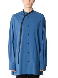 Raf Simons-Camicia Over in cotone navy