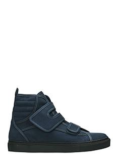 Raf Simons-Sneakers Higth in tessuto grigio