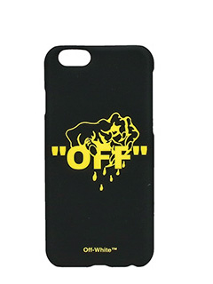 Off White-Cover Hand Off IPhone 6 in plastica nera