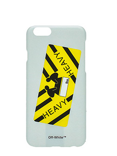 Off White-Cover Heavy Sticker IPhone  6 in plastica bianca