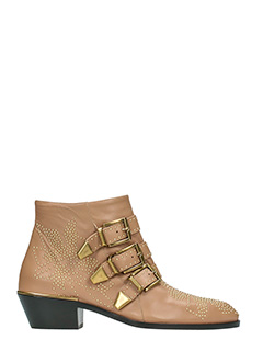 Chlo�-Susanna  powder leather ankle boots