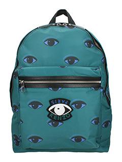 Kenzo-Zaino Eye All Over in nylon verde