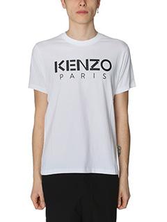 Kenzo-T-Shirt Kenzo Paris in cotone bianco