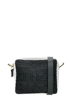 Kenzo-Borsa Konbo Camera Bag in nylon nero bianco