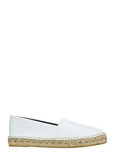 Kenzo-Tiger white leather espadrilles