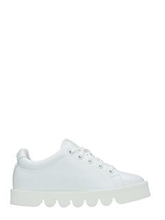 Kenzo-Sneakers KWay in pelle bianca