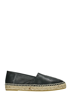 Kenzo-Tiger black leather espadrilles