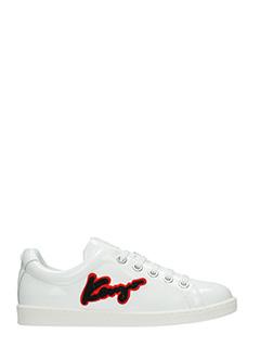 Kenzo-Sneakers Kenzo Signature in pelle bianxa