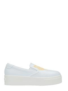 Kenzo-Sneakers K Py Tiger in pelle bianca