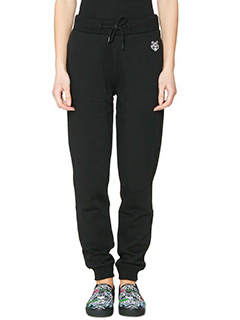 Kenzo-Pantaloni Tiger Sweat Pant in cotone nero