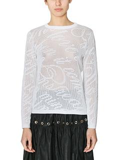 Kenzo-Maglia in cotone bianco