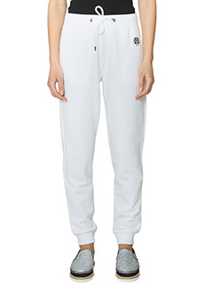 Kenzo-Pantaloni Tiger Sweat Pant in cotone bianco