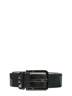 Valentino-Cintura Camouflage in pelle nera