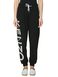 Kenzo-Pantaloni Kenzo Sweat Pant in cotone nero