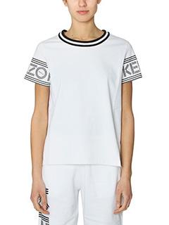 Kenzo-T-Shirt Kenzo Essential in cotone bianco