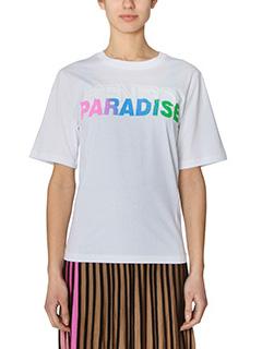 Kenzo-T-Shirt Paradise Slogan in cotone bianco