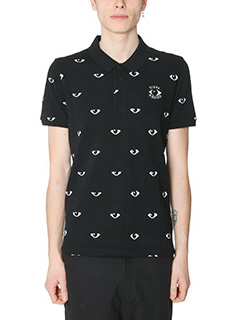 Kenzo-Polo All Over Eyes in cotone nero