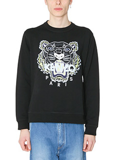 Kenzo-Felpa Tiger in cotone nero