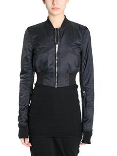 Rick Owens DRKSHDW-Glitter flight black cotton outerwear