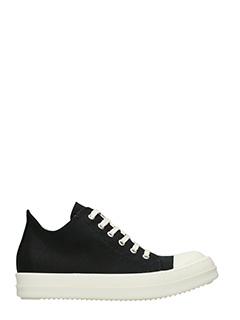 Rick Owens DRKSHDW-Sneakers Low in tessuto nero
