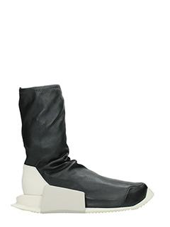 Rick Owens For Adidas-Sneakers  Runner Hi in pelle nera